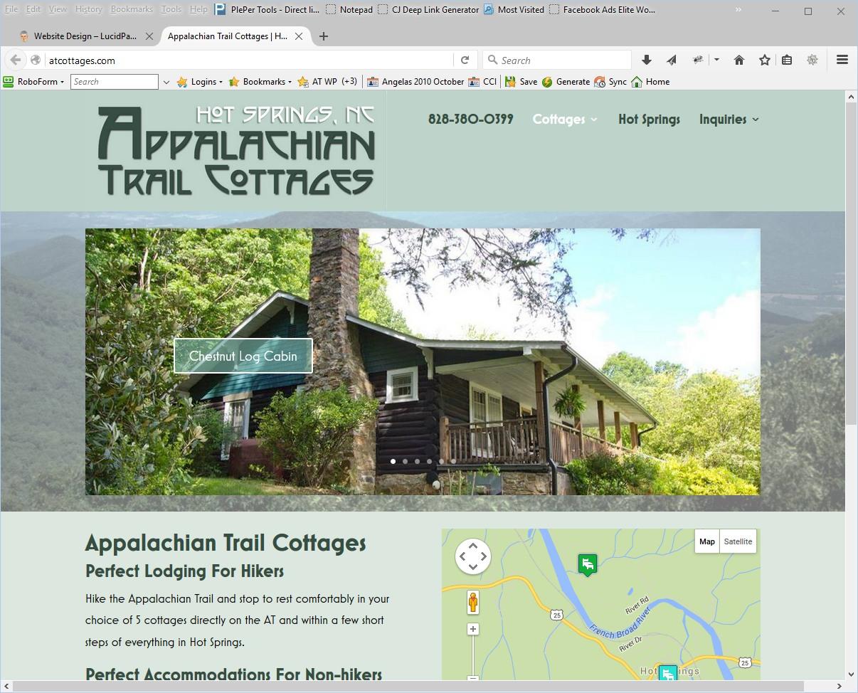 AT Cottages Website