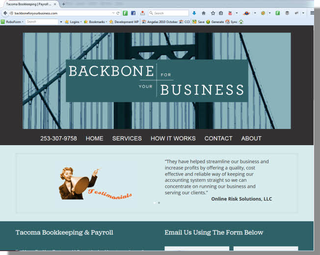 Backbone for Your Business Website