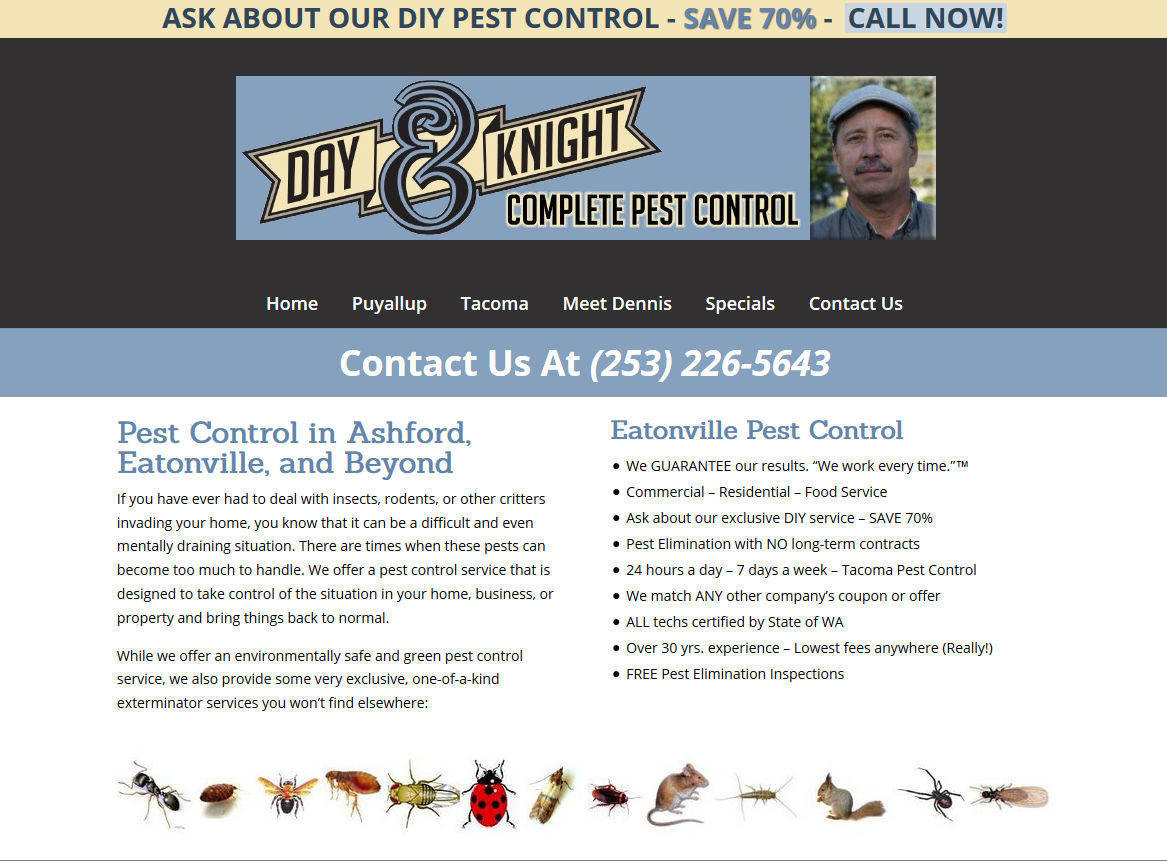Day and Knight Pest Control Website