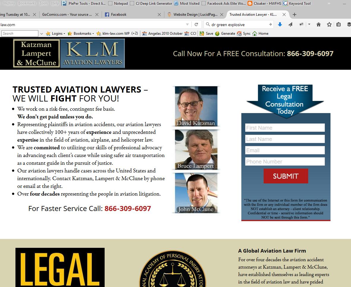 KLM Law Website