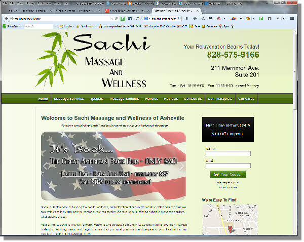 Sachi Massage Website