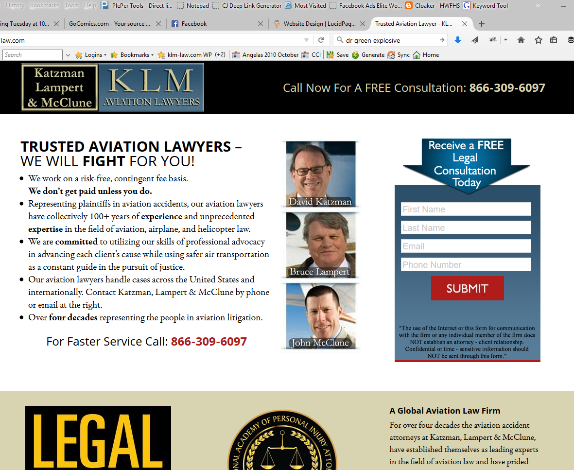 KLM Law Website