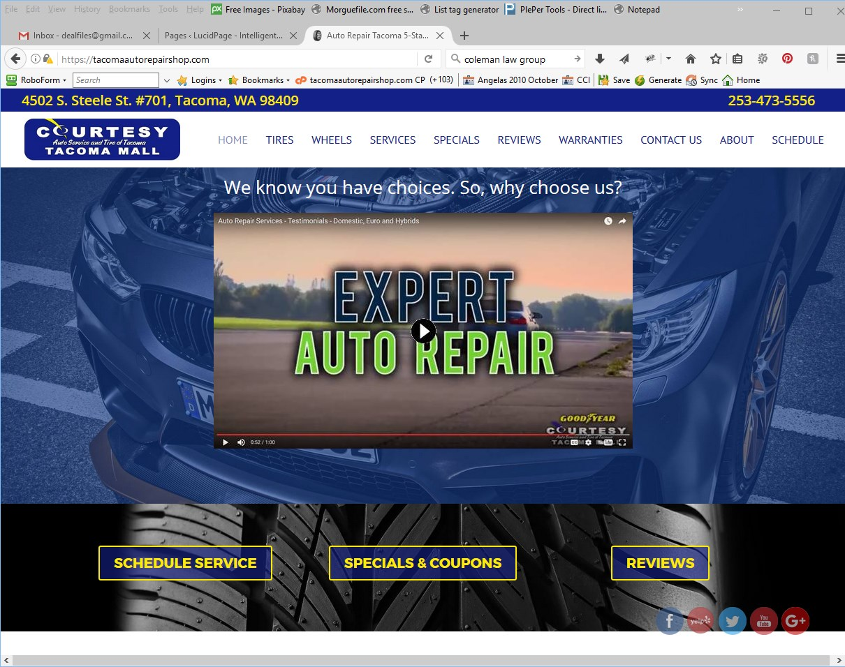 Courtesy Auto Service Website